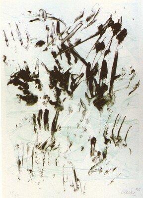 Günther Uecker Ohne Titel (1995) Siebdruck