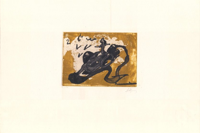 Antoni Tapies Print Sabata i ocre