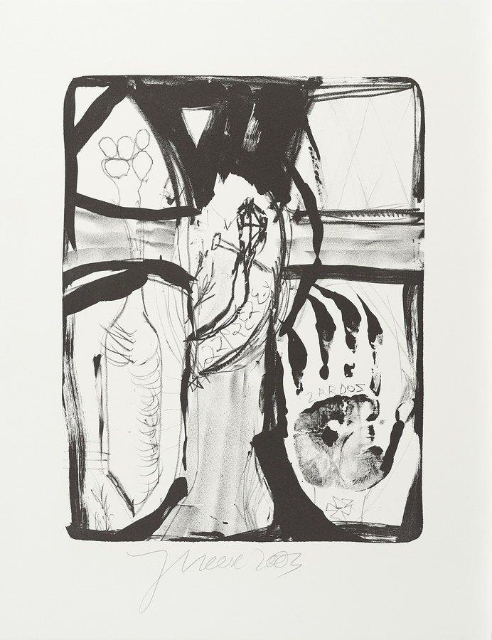 Jonathan Meese Die Erntegöttin Grafik Lithografie
