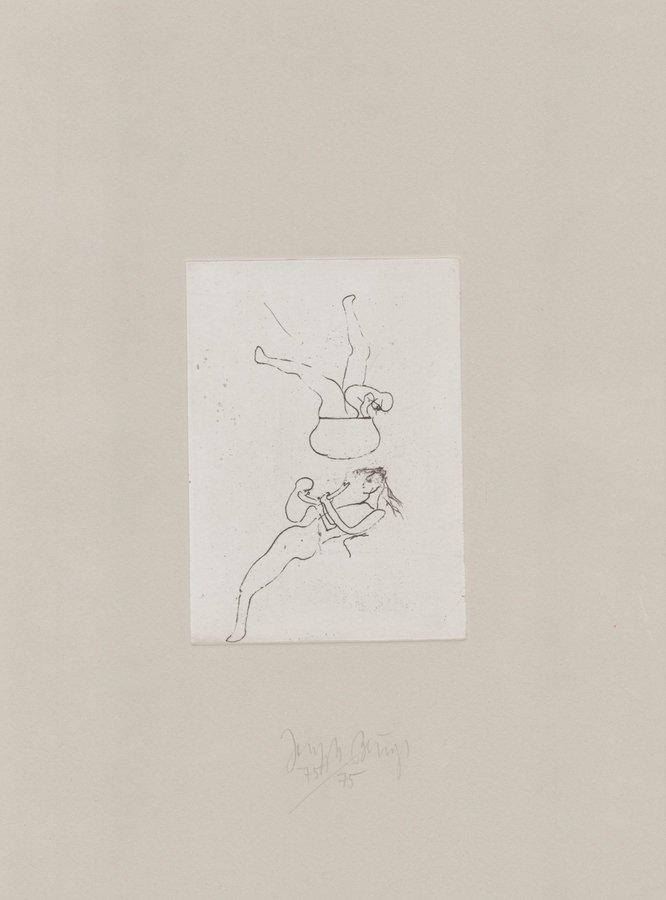 Joseph Beuys Radierung Zirkulationszeit: Topfspiel