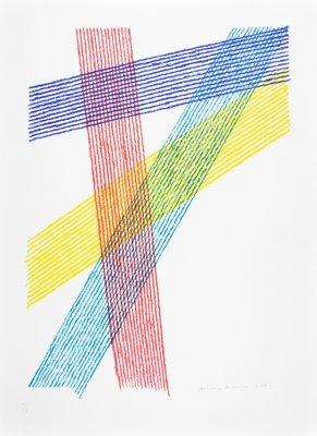 Piero Dorazio Lithograph Print Trigon