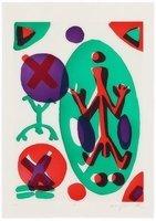 A.R. Penck Bild Grafik Radierung Serie II Ich