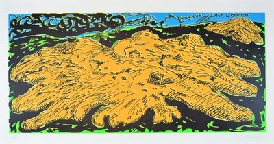 Jörg Immendorff Linocut Print Den Leut wecken
