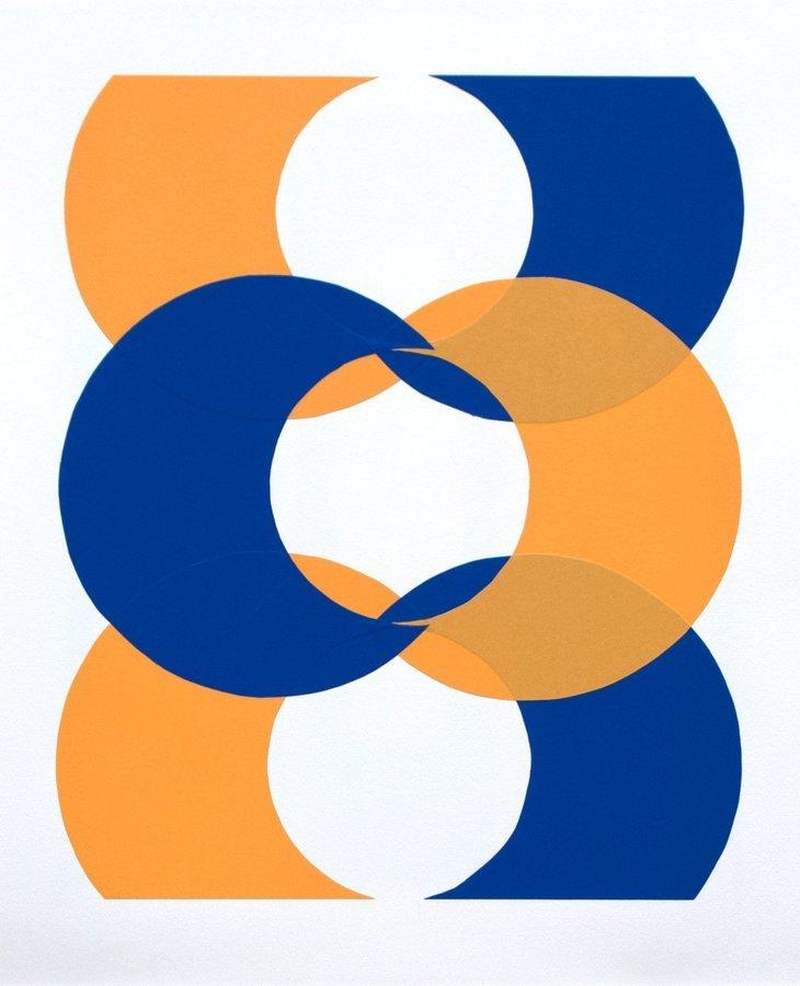 Clara Brörmann Grafik Lithographie Tangram-Reihe 4