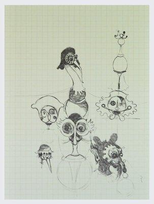 Gert und Uwe Tobias Edition Print o.T. V Figurenskizze