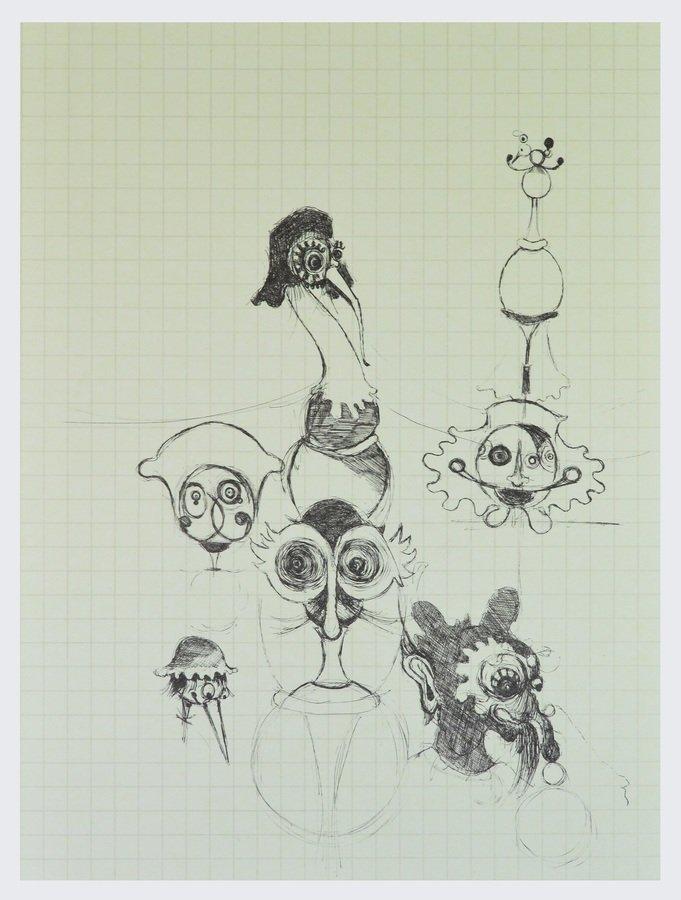Gert und Uwe Tobias Edition Grafik o.T. V Figurenskizze