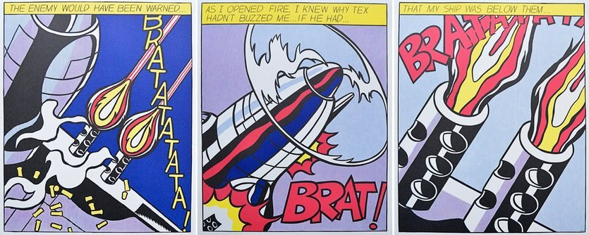Roy Lichtenstein As I opened Fire Lithographie