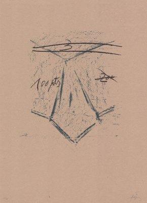 Antoni Tapies Llambrec material XII Grafik