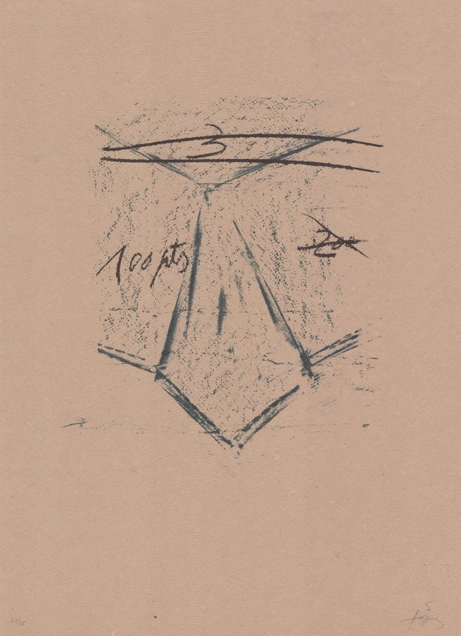 Antoni Tapies Llambrec Material XII Print
