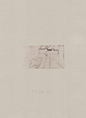 Joseph Beuys Grafik Zirkulationszeit: Kreuz für Saturn