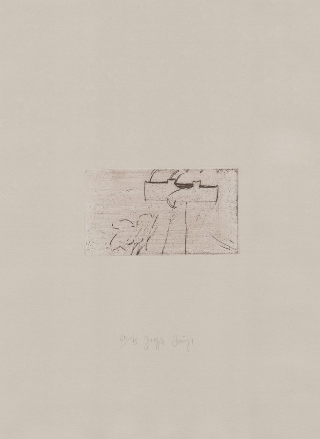 Joseph Beuys Print Zirkulationszeit: Kreuz Für Saturn