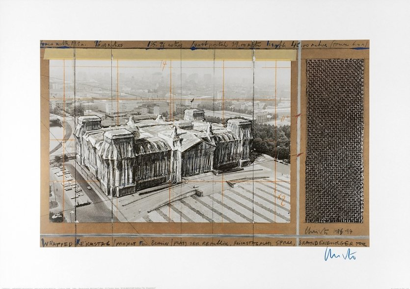 Christo Druck Reichstag X