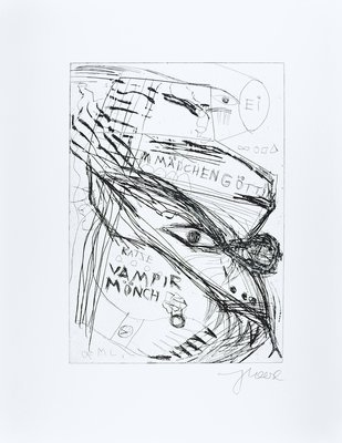 Jonathan Meese Etching Print Die Exe Schrympylei