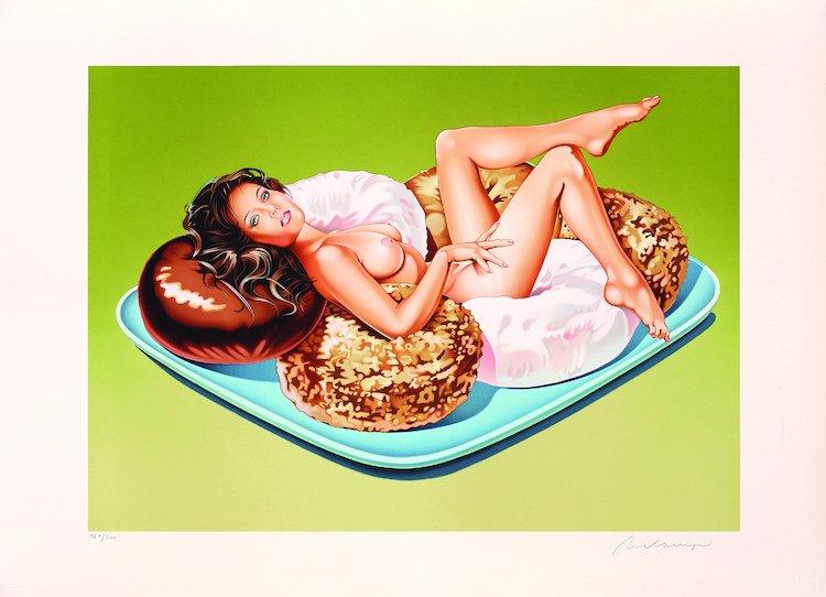 Mel Ramos Donut Doll Lithograph Print