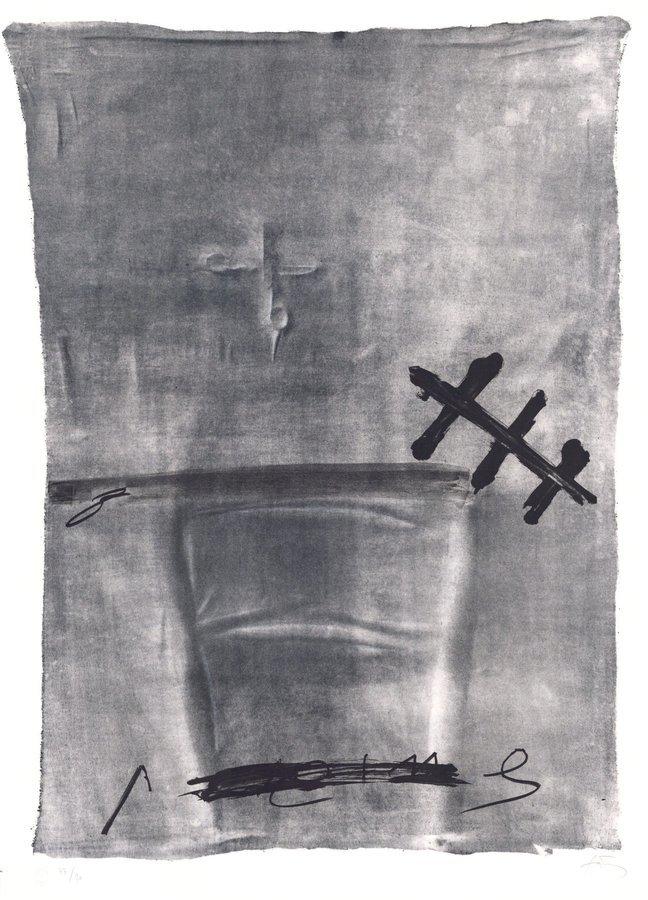 Antoni Tapies Grafik Variations III: Chaise et ciseaux
