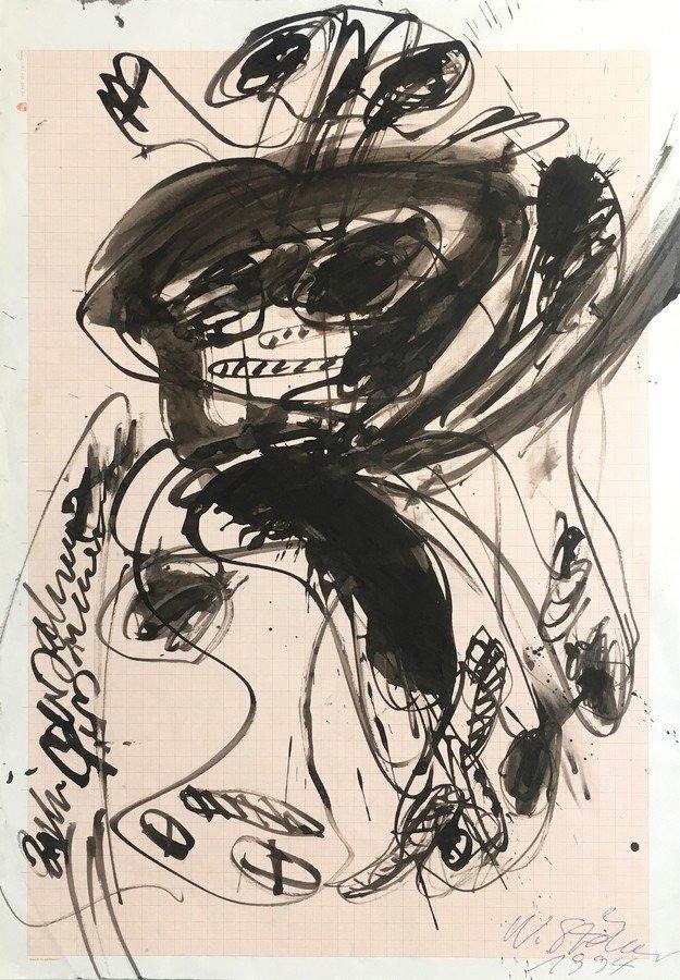 Walter Stöhrer Gouache Untitled I 1994