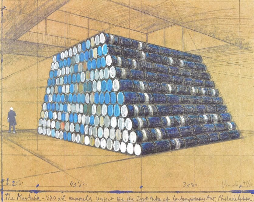 Christo The Mastaba 1240 Oil Barrels Print
