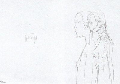 Joseph Beuys Print Granolithograph Leonardo Codice Madrid II