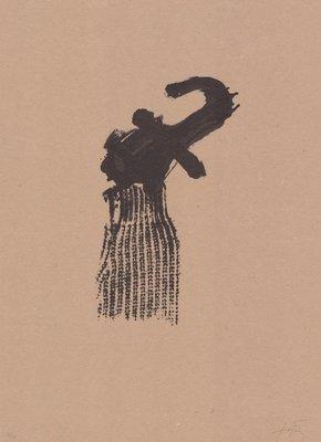Antoni Tapies Print Llambrec Material X