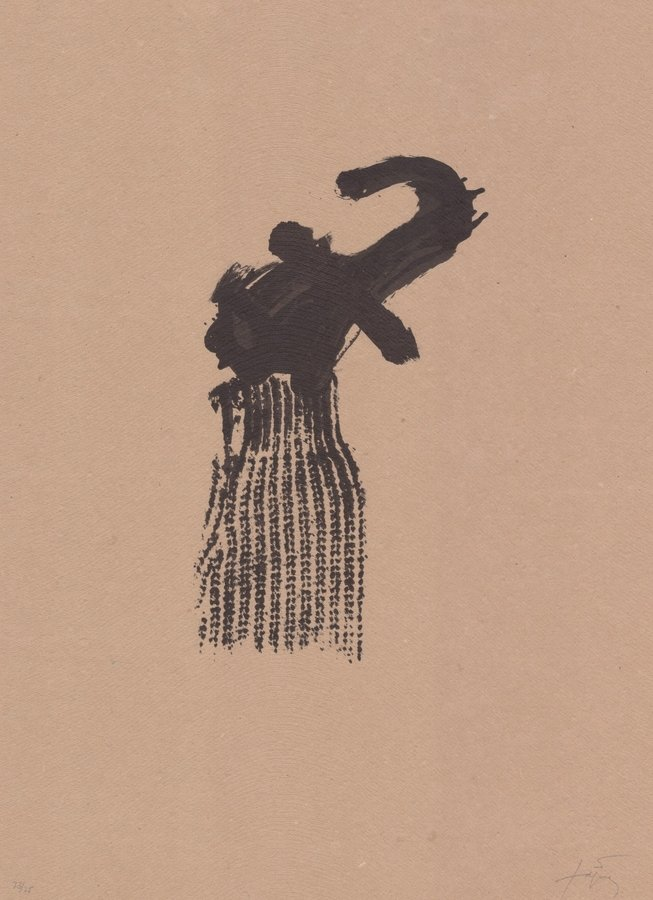 Antoni Tapies Grafik Llambrec material X