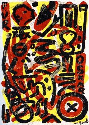 A.R. Penck Print Serigraph Für Oskar