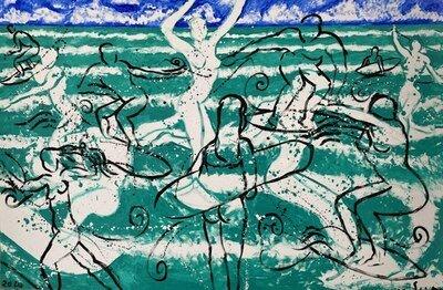 Stefan Szczesny Painting Surfing