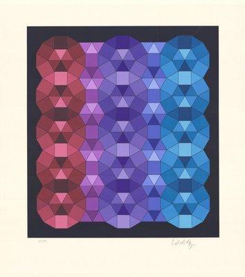 Victor Vasarely Print YKA I