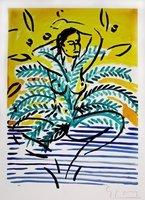 Stefan Szczesny Bild Grafik Nude in a Palm