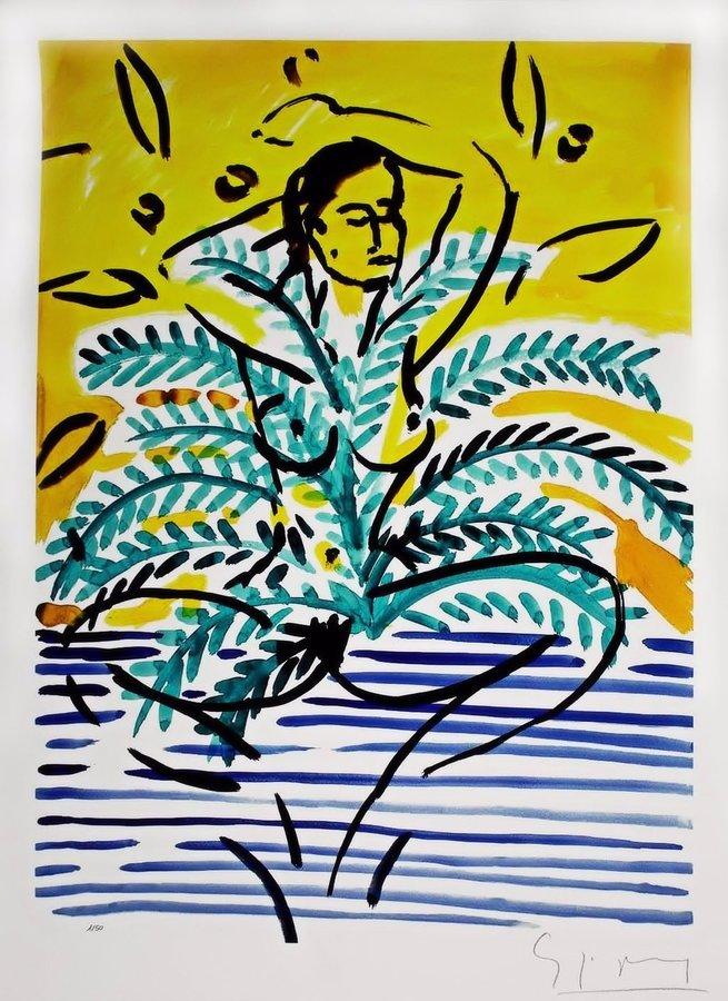 Stefan Szczesny Print Nude in a Palm