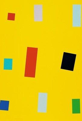 Imi Knoebel Siebdruck Grafik Gelbe Fahne