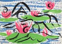 Stefan Szczesny Serigraph Siesta im Seerosenteich