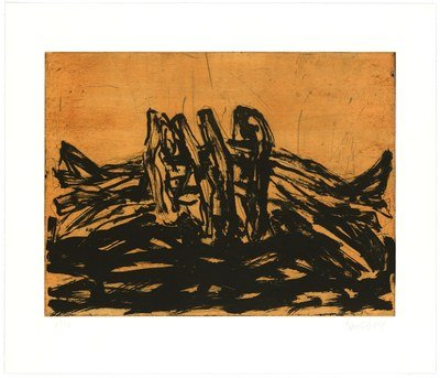 Georg Baselitz Winterschlaf VI Print Aquatint