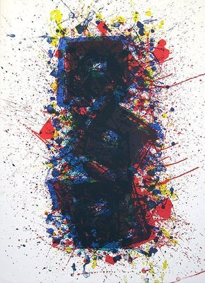 Sam Francis Grafik Lithographie 1981 untitled