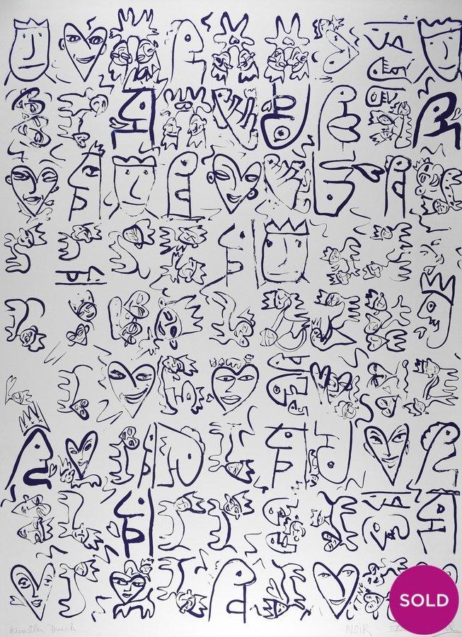 Thierry Noir Grafik Lithographie ohne Titel 07.12.90