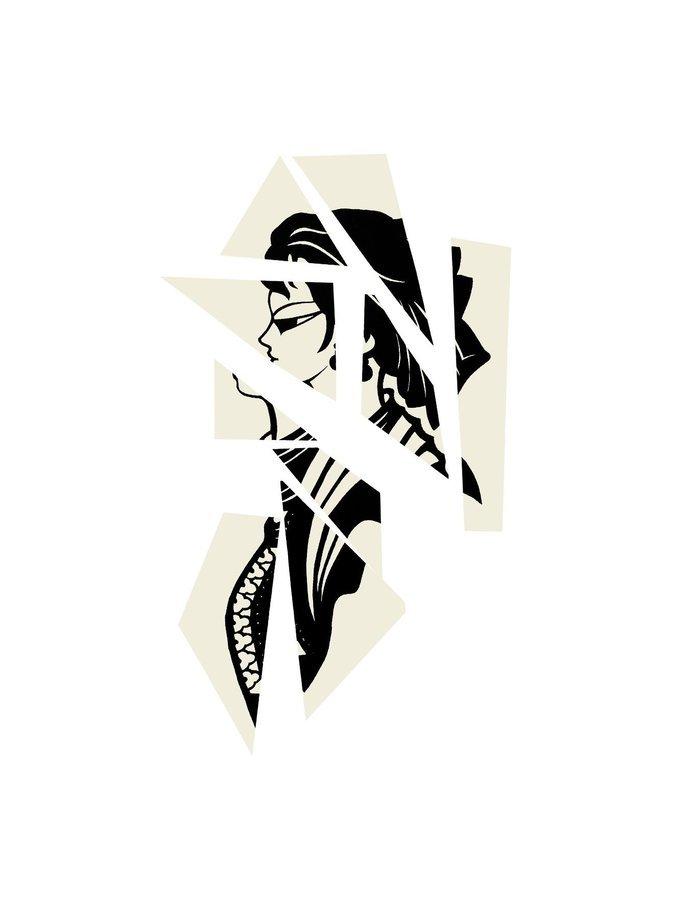 Liliana Porter Chinese Cubist II Lithographie Grafik