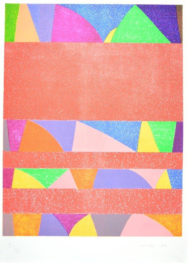 Piero Dorazio Lithographie Grafik Wassili