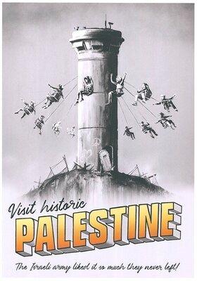Banksy Visit historic Palestine Lithografie