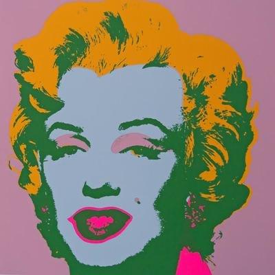 Andy Warhol Marilyn Pink Yellow Serigraph Sunday B. Morning