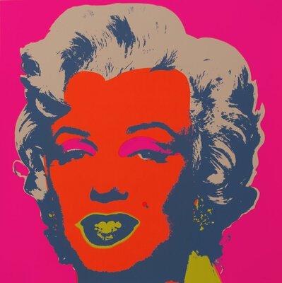 Andy Warhol Marilyn Rot Pink Siebdruck Sunday B. Morning