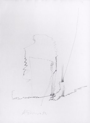 Gerhard Hoehme Drawing Untitled II