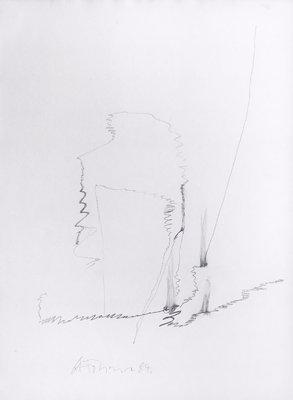 Gerhard Hoehme Zeichnung o.T. II