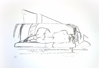 Norbert Tadeusz Lithographie Grafik Rückenakt I