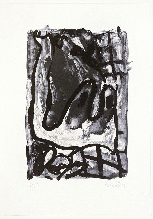 Georg Baselitz Rebe Grafik Lithografie