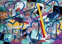 Stefan Szczesny Unique Painting Oasis