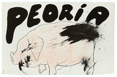 Jim Dine Peoria Print Lithograph