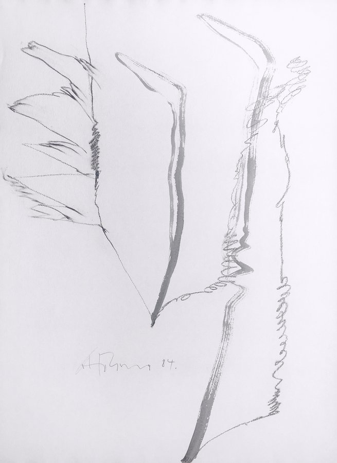 Gerhard Hoehme Drawing Untitled I