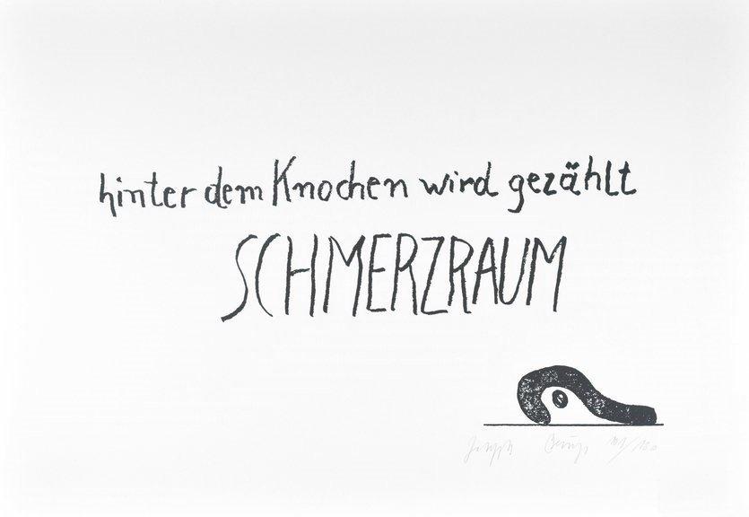 Joseph Beuys Schmerzraum Grafik Edition