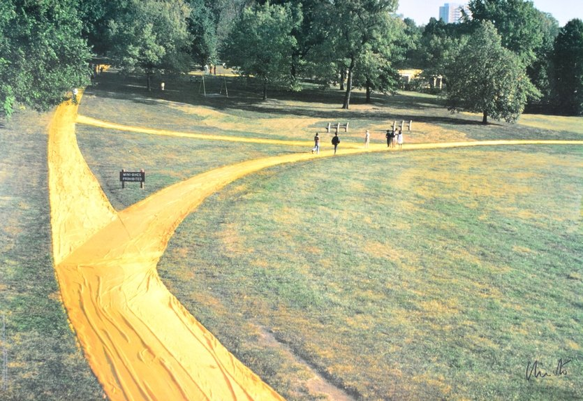 Christo und Jeanne-Claude Wrapped Walk Ways Druck