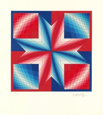Victor Vasarely Grafik Tsillag