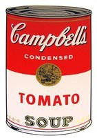 Andy Warhol Campbells Soup Tomato Serigraph Sunday B. Morning